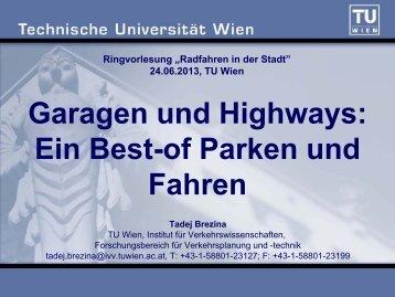 Fahren - Forschungsbereich für Verkehrsplanung und Verkehrstechnik