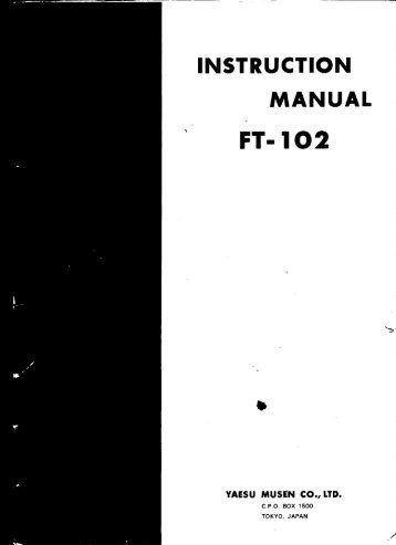Operating Manual and alignment guide - IW2NMX