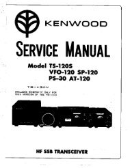 Kenwood TS-120S Service manual - IW2NMX