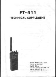 Yaesu FT411R Service manual - IW2NMX