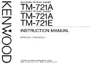 TM-721 User manual - IW2NMX