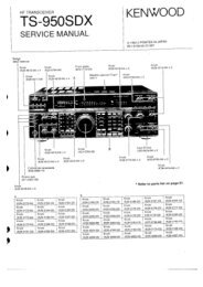Kenwood - TS-959SDX Service manual - IW2NMX