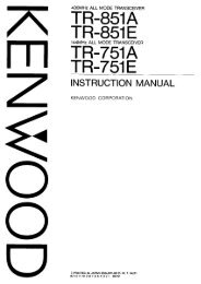 Kenwood - TR-751 & TR-851 User manual - IW2NMX