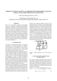FREQUENCY DOMAIN ADAPTIVE ALGORITHMS FOR ...