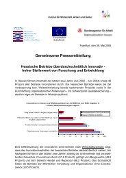 Gemeinsame Pressemitteilung Hessische Betriebe ... - IWAK Frankfurt