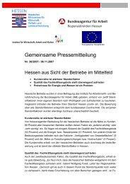 Gemeinsame Pressemitteilung - IWAK Frankfurt