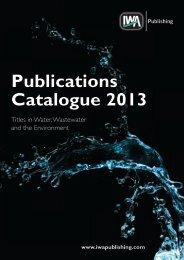 Publications Catalogue 2013 - IWA Publishing