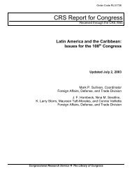 Latin America and the Caribbean: Issues for the 108th Congress