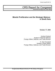 Missile Proliferation and the Strategic Balance in South Asia