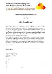 100 Solardächer - Förderverein für Energiesparen und ...