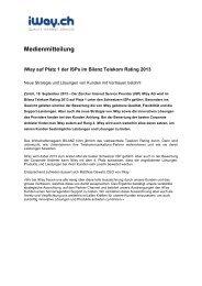 Cyberlink erweitert Angebot mit FTTH von EWZ - iway.ch