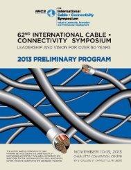 13 Preliminary Program - IWCS