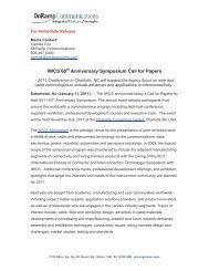 IWCS 60th Anniversary Symposium Call For Papers