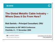 The Global Metallic Cable Industry – Where Does it Go From ... - IWCS
