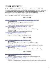 AWARD RECIPIENTS - IWCS
