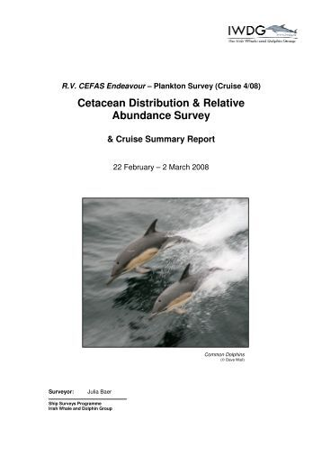 Cetacean Distribution & Relative Abundance Survey & Cruise ...