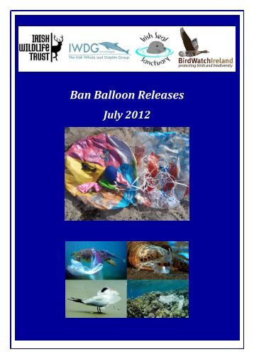 Ban Balloon Releases - Irish Wildlife Trust