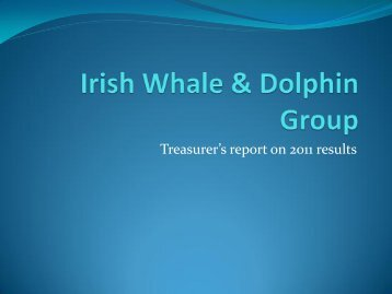 2012 Treasurers report - Irish Whale and Dolphin Group