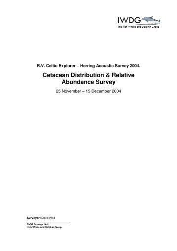 Cetacean Distribution & Relative Abundance Survey