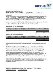 ausschreibungstext öko verde / öko hydra - Diephaus