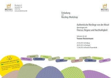 Mosel Riesling Workshop - International Wine Institute