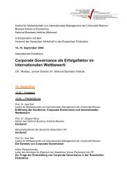 das programm finden sie hier. - Institute for World Economics and ...