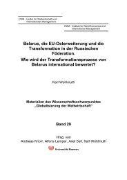 Belarus, die EU-Osterweiterung und die Transformation in der ...