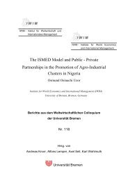The ISMED Model and Public - Institute for World Economics and ...