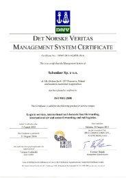 DET NORSKE VERITAS MANAGEMENT SYSTEM ... - DB Schenker