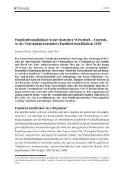 Familienfreundlichkeit in der deutschen Wirtschaft – Ergebnis ... - IW