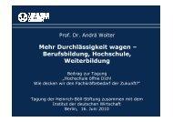Mehr Durchlässigkeit wagen – Berufsbildung, Hochschule ... - IW