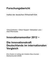Forschungsbericht Innovationsmonitor 2012 − Die ... - INSM
