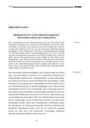 dokumentation produktivität und lohnstückkosten im ... - IW