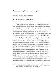 Betriebsverfassung im europäischen Vergleich, Prof. Dr. Abbo ... - IW