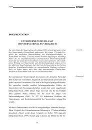dokumentation unternehmensteuer-last im internationalen ... - IW