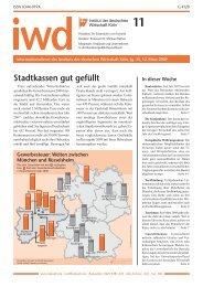 Stadtkassen gut gefüllt - Institut der deutschen Wirtschaft