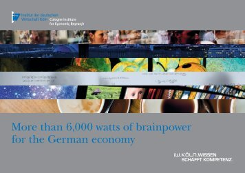More than 6,000 watts of brainpower for the German economy - IW