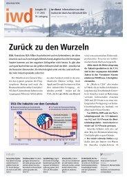 Zurück zu den Wurzeln - Institut der deutschen Wirtschaft