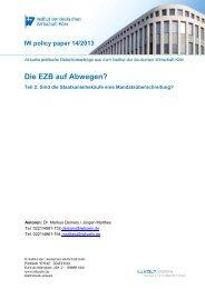 EZB auf Abwegen Teil 2 - Institut der deutschen Wirtschaft