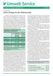 Keine Umlage für den Wärmemarkt - Institut der deutschen Wirtschaft