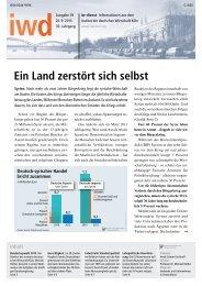 Ein Land zerstört sich selbst - Institut der deutschen Wirtschaft