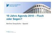 Powerpoint BGS - Institut der deutschen Wirtschaft
