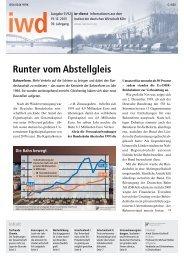 Runter vom Abstellgleis - Institut der deutschen Wirtschaft
