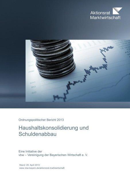 Haushaltskonsolidierung und Schuldenabbau - Institut der ...