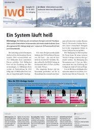 Ein System läuft heiß - Institut der deutschen Wirtschaft