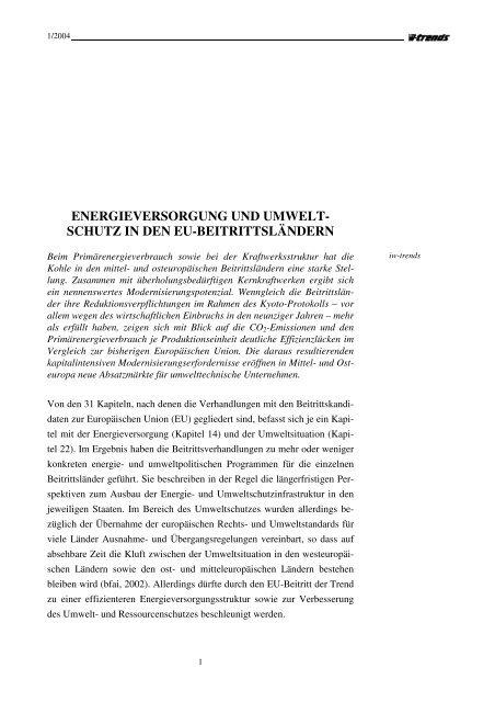 schutz in den eu-beitrittsländern - Institut der deutschen Wirtschaft