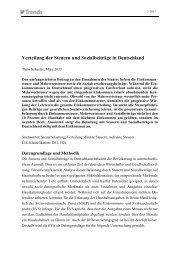 Verteilung der Steuern und Sozialbeiträge in Deutschland