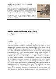 Rawls and the Duty of Civility - IWM