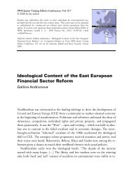 Ideological Content of the East European Financial Sector ... - IWM
