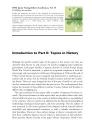 Introduction to Part II: Topics in History - IWM